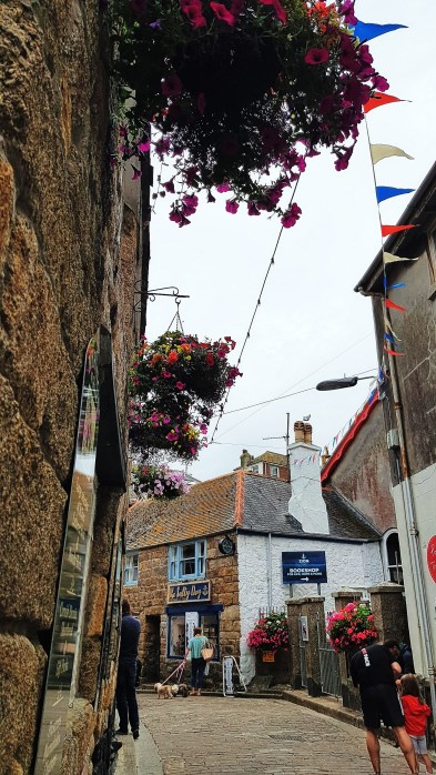 The cobbletones streets of downtown St. Ives