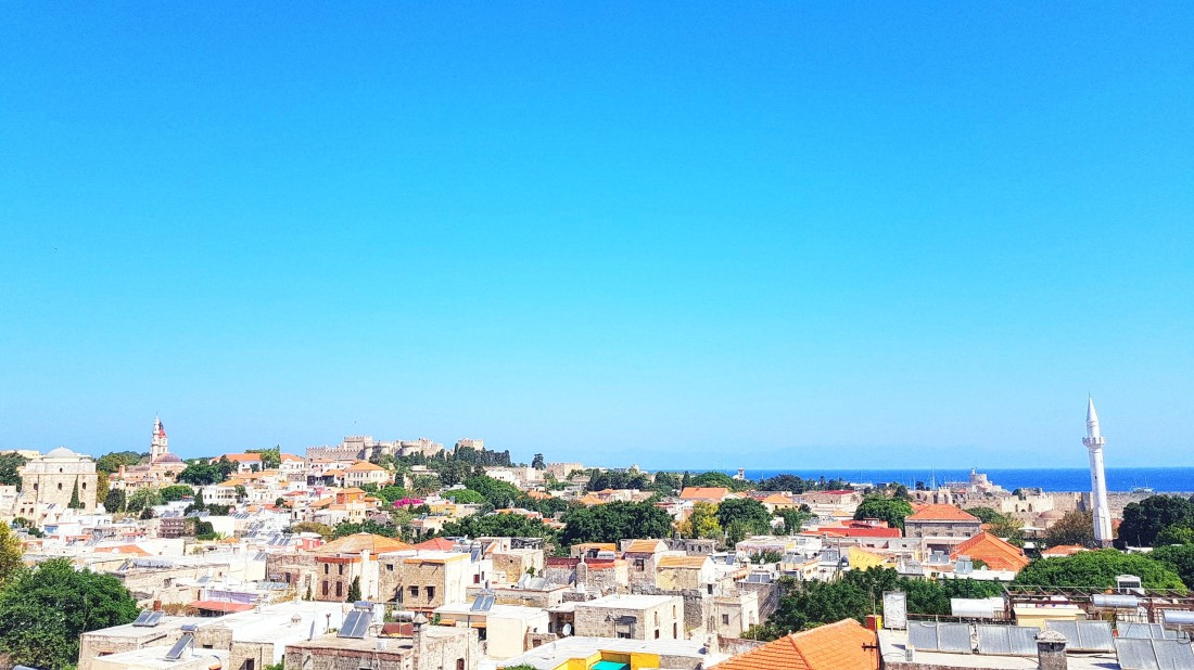 Rooftop View Old Town Rhodes